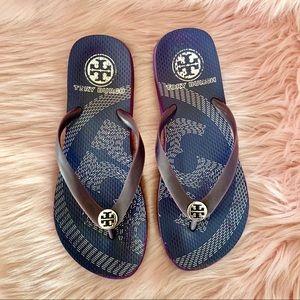 Tory Burch Flip Flops Women's Sandals Purple Thong